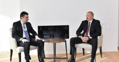 Prezident İlham Əliyevin Davosda Gürcüstanın Baş Naziri ilə görüşü olub