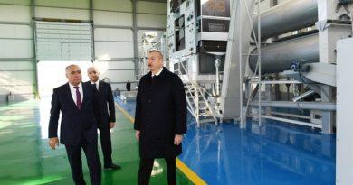 Prezident Kürdəmirdə aqroparkın təqdimatında iştirak etdi