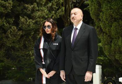 İlham Əliyev və Mehriban Əliyeva Şəhidlər xiyabanında